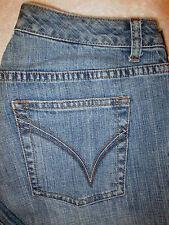 Venezia Red Triangle Stretch Boot Cut Womens Denim Jeans Size 1 Avg x 31.5 Blue