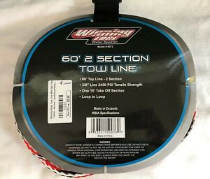 """Winning Edge Model 60T2 60 foot 2 Section Two Line 3/8"""" line Red Black White"""
