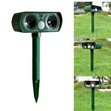 Solar Power Ultrasonic Pest Animal Repeller Garden Cat Dog Scarer Control 2020