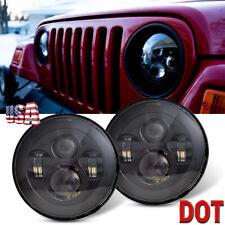 7'' Round Cree LED Headlights High Low Beam for Jeep Wrangler JK TJ LJ CJ Hummer