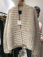Womens Lazy Style Chunky Knitted Loose Oversize Sweater Cardigans Outwear 2019