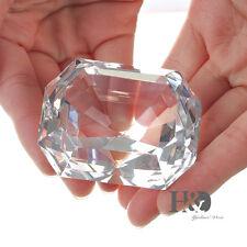 Crystal Glass Diamond Paperweight Anniversary Wedding Birthday Gift with Box