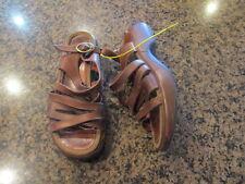 Dansko 7 1/2 Brown Leather buckle strappy open toe sandals Women's EU 38