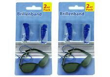 4 St. lange Düne Brillenband Brillenschnur Brillencordel Brille blau