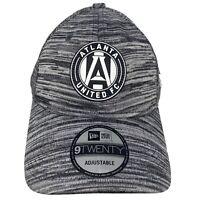 New Era ATLANTA UNITED FC 920 9Twenty Gray Adjustable Strapback Hat Cap MLS