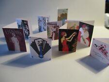DOLLS HOUSE MINIATURE  ART DECO CHRISTMAS CARDS