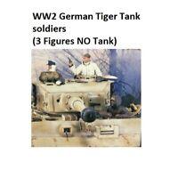 1/35 Resin Figures Model Kit WW2 German Tiger Tank soldiers (3 Figures NO Tank)