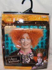 Mad Hatter Disney Alice in Wonderland Adult Wig Orange Costume Halloween Disguis