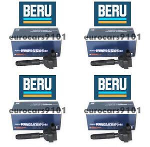 Set of (4) Mercedes-Benz C230 Beru Direct Ignition Coils ZS041 0001502880