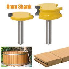 2Pcs 8mm Round Shank Woodworking Milling Cutter Flute Router Bit Set Home DIY