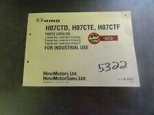 Hino H07CTD H07CTE H07CTF Engine Parts Catalog Manual   B-6660
