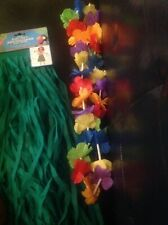 Sexy Hawaiian Party Luau costume Kit skirt,bikini top,Leis,+pineapple cup