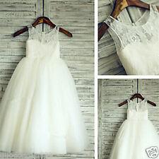 Formal Princess Bridesmaid Flower Girl Dresses Wedding Party Dresses Calf length