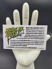 100 BewareTheNeedle Vaccine Info Cards – English