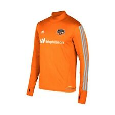 Houston Dynamo MLS Adidas Men's Orange Climacool Long Sleeve Training Jersey