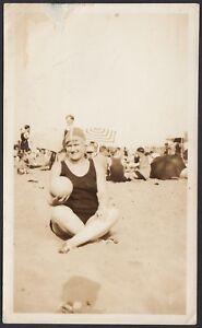 YZ1314 New York 1928 - South Beach - Veduta - Fotografia d'epoca