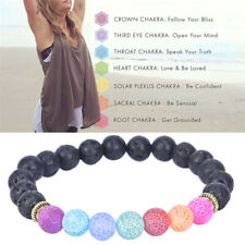 8MM Healing Beaded Bracelets Natural Lava Stone Diffuser Bracelet Jewelry Gi ZT