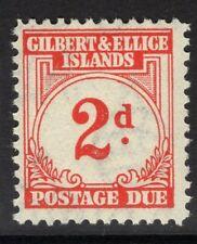 GILBERT & ELLICE IS. SGD2 1940 2d SCARLET POSTAGE DUE MNH