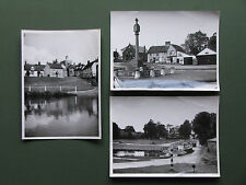 3 X C1950'S B/W PHOTOS OF FINCHINGFIELD - MEMORIAL, POND, COTTAGES ETC