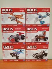 Bolts From The Makers of Meccano Set 6 Building Erector Sets Race Car Helicopter