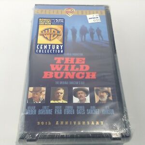 THE WILD BUNCH - NEW SEALED - VHS Cult Classic CLAMSHELL WB 30th Anniversary