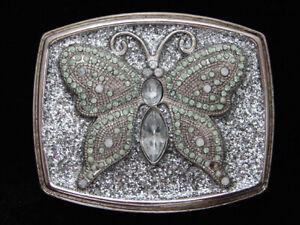 QG23173 Bonnes Refroidir Papillon Cristaux Mode Art Boucle Ceinture