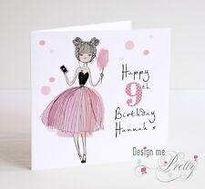 Girls Personalised Birthday Card Daughter Granddaughter Sister Teenager