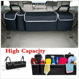 Car Trunk Organizer Car Interior Accessory Back Seat Storage Box Bag Oxford 90cm