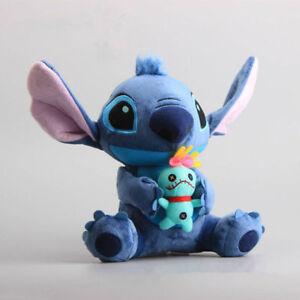 New Hot Lilo & Stitch Holiding Scrump Soft Plush Toys Stuffed Dolls 24cm Teddy