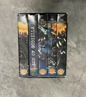 Vintage 1998 Godzilla VHS Movie Collection Set of 5 Rare horror sci fi