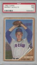 1962 Topps baseball card #89 Barney Schultz, Chicago Cubs PSA 7 NM
