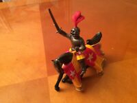 Britains Toys.A vintage  Medieval Metal Knight On Horseback .Excellent Condition