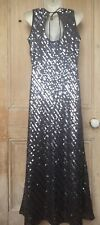 LADIES SEQUIN DRESS SIZE 12 HAMELLS FULL LENGTH OCCASION