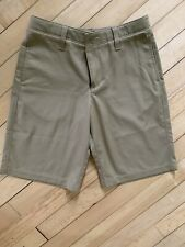 Under Armour Boys Match Play Golf Shorts Loose Fit Khaki Tan Size 10 Heat Gear