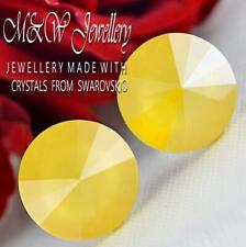 925 Silver Stud Earrings Crystals From Swarovski® 12mm RIVOLI - Buttercup