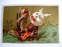 Vintage Card With Picture of a Boy w/Pliers Trying to Take Out A Tooth *