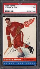 Gordie Howe Red Wings HOF 1954 1st Topps Hockey Card #8 PSA 7 Near Mint x706