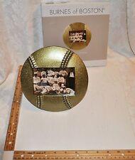Nib Burnes Of Boston - Bronze Baseball Softball Shaped Picture Frame