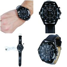 HD Hidden Watch Camera with Built-In DVR, Black Case and Black Band