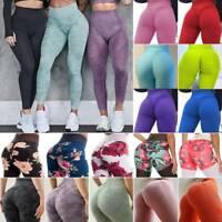Women High Waist Yoga Leggings Pants Push Up Sport Fitness Gym Workout Trouser L