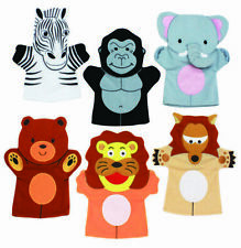 6 Wild Animal Hand Puppets - Childrens School Story Telling Puppets Toys