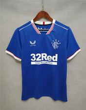 20-21 Glasgow Rangers FC Home Away Shirt Mens Size S-2XL Short Sleeves