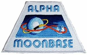 """Space 1999 ALPHA MOONBASE Orbit Logo 3 3/4"""" Wide Embroidered PATCH"""