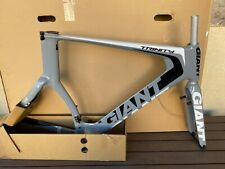 NEW 2014 GIANT TRINITY COMPOSITE FRAME, FORK AND SEATPOST XL GRAY/BLACK/WHITE