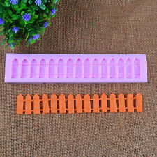 Silicone Fondant Cake Fence Design Mold Pan Cake Decoration Mould Baking Tool
