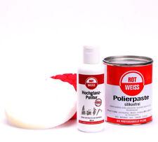 ROTWEISS Polierset Polierpaste Hochglanzpolitur Polierschwamm Rot Weiss /E0123