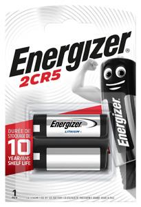 1X Energizer 2CR5 6V Lithium Battery (DL245EL, 2CR-5L, KL2CR5, 2CR5R) Free Post'
