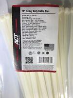 """50 Pc ACT Cable Zip Ties 50pcs Heavy Duty 120lb 18"""" Plenum Rated  AL-18-120-9-L"""