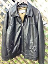 Wilson Leather M. Julian Leather Jacket Coat  Black Mens Large XL