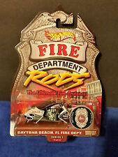 Hot Wheels Fire Rods Scorchin' Scooter Daytona Beach, FL. Fire Dept Series 1